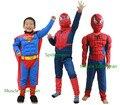 Frete grátis crianças dia das bruxas Cosplay roupas spiderman calças superman suit superman traje