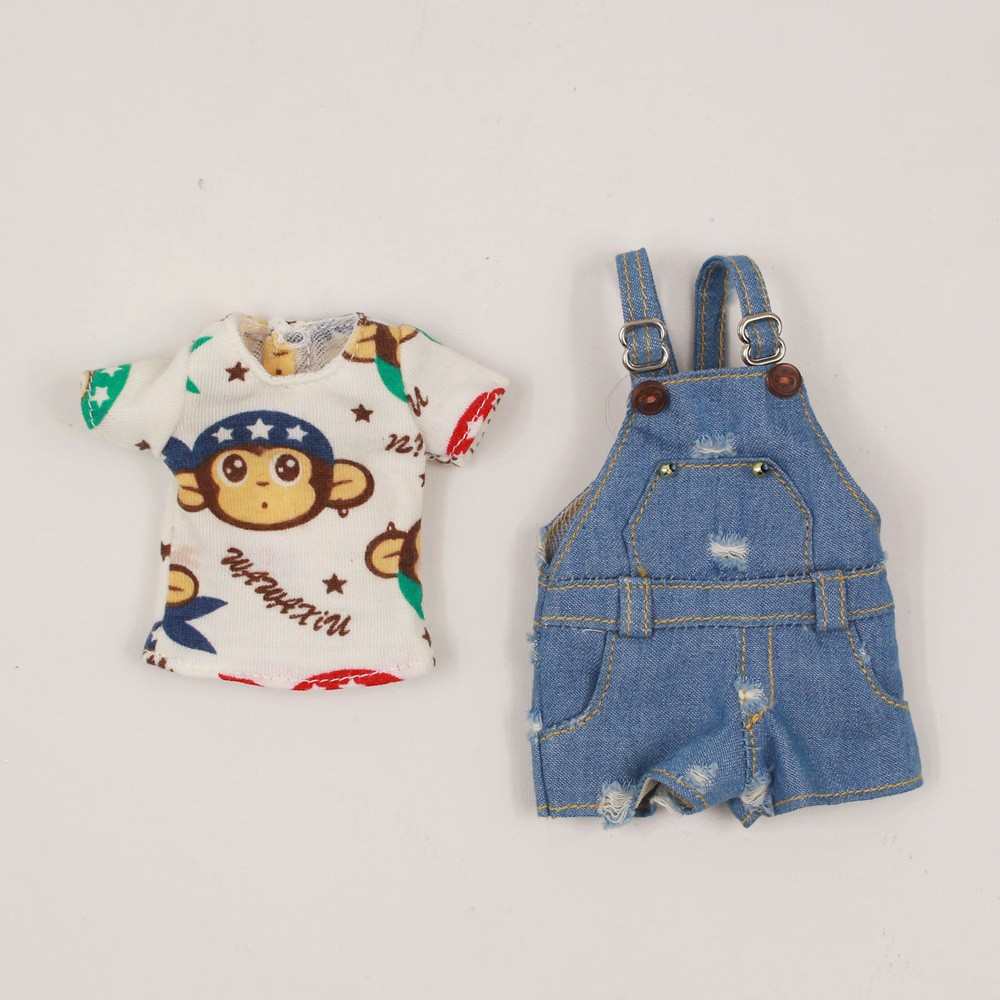 Neo Blythe Doll Shirt With Casual Pants & Rompers Suit 7