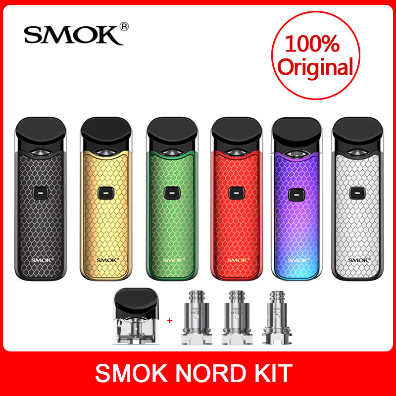 Original SMOK Nord Kit with Built-in Battery+Coils+Pod 3ml For Electronic Cigarette smok nord pod vape kit vs smok novo vape kit