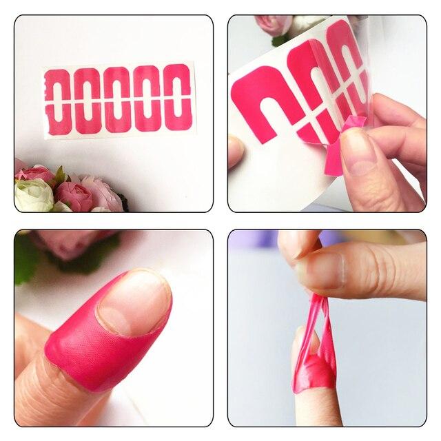 30pcs Manicure Nail Art Finger Covers Polish Molds Shield Anti ...