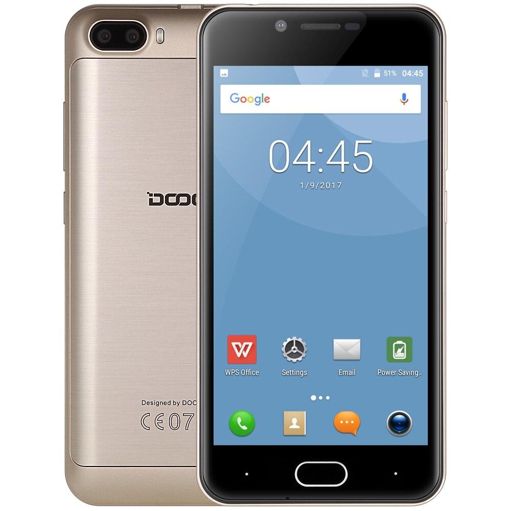 bilder für DOOGEE Schießen 2 5.0MP Dual Hinten Kameras 3G Handy 5,0 zoll Android 7.0 MTK6580 Quad Core Smartphone Vorder Touch Sensor
