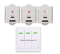 AC 85V 110V 180V 220V 240V Wide Working Voltage Wireless Remote Light Switch + Wall Remote Control Panel Transmitter