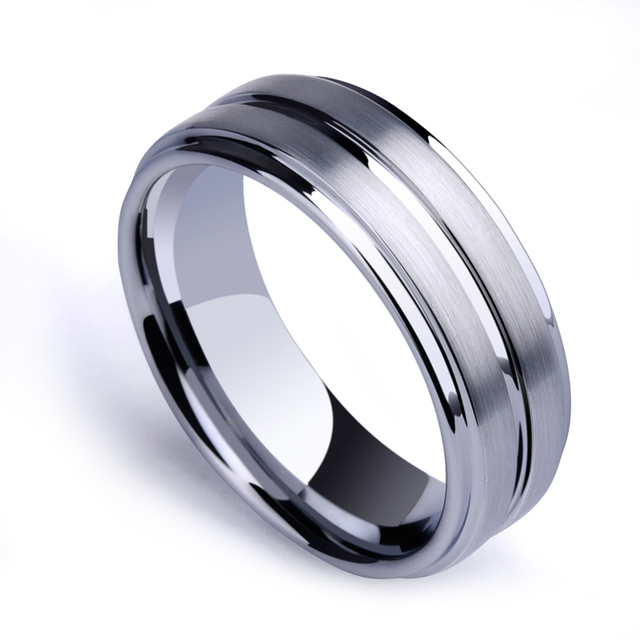 New Arrival Man S Fashion Jewelry 7mm Tungsten Carbide Rings Brushed Finishing Scratch Proof Us Size 7