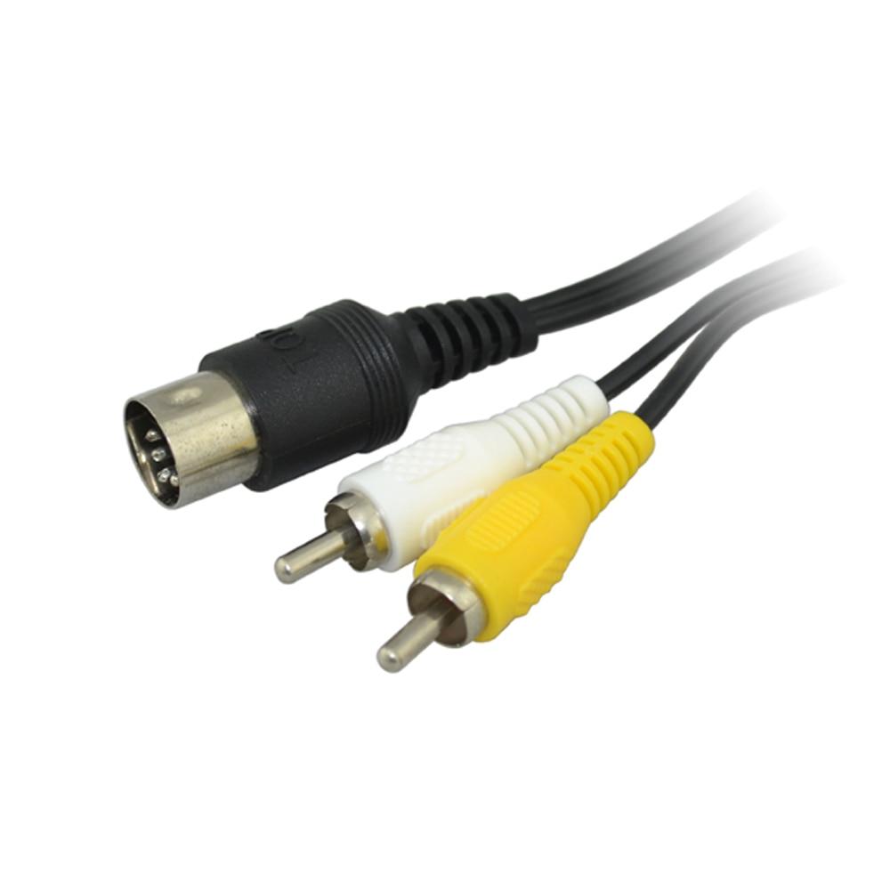 100pcs a lot AV Audio Video Cable for SEGA Mega Drive 1 for Genesis 1 RCA Cord