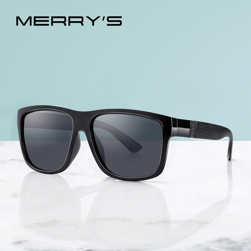 MERRYS DESIGN Men Classic Polarized Sunglasses Male Vintage Square Sun Glasses UV400 Protection S3008