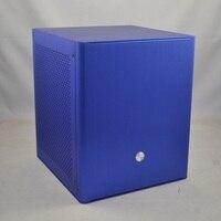 Jonsbo v3 עבור usb3.0 mini-itx עבור אלומיניום מארז מחשב htpc מיני כחול