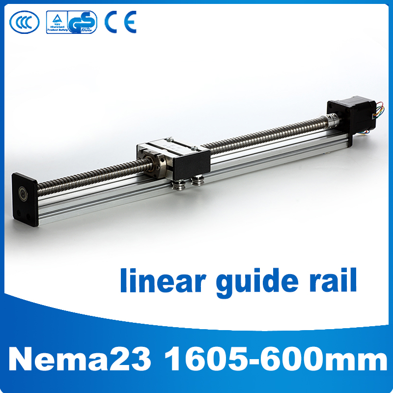 1605-600mm linear motion guide nema 23 linear slide motor cnc linear guide 600mm1605-600mm linear motion guide nema 23 linear slide motor cnc linear guide 600mm