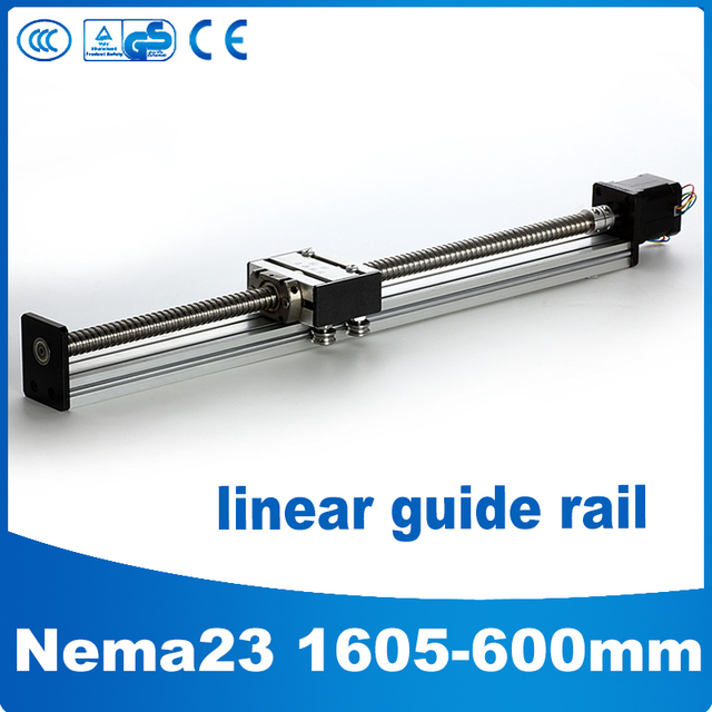 1605-600mm linear motion guide nema 23 linear slide motor cnc linear guide 600mm
