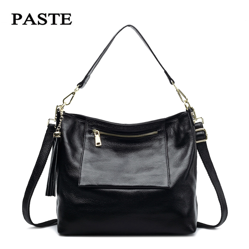 PASTE Large Handbags Women Bag Fashion Genuine Leather Woman Shoulder Bag 2017New Casual Ladies Tote Bags Femme Bolsa Feminina