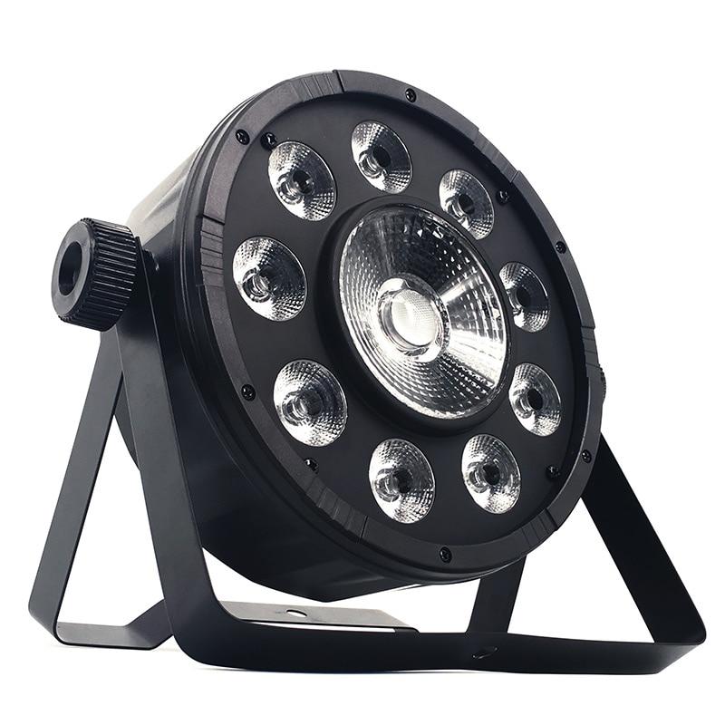 SHEHDS LED Flat Par 9x10W+30W RGB Lighting RGB 3IN1 LED Light DMX512 Disco Lights Professional Stage DJ Equipment