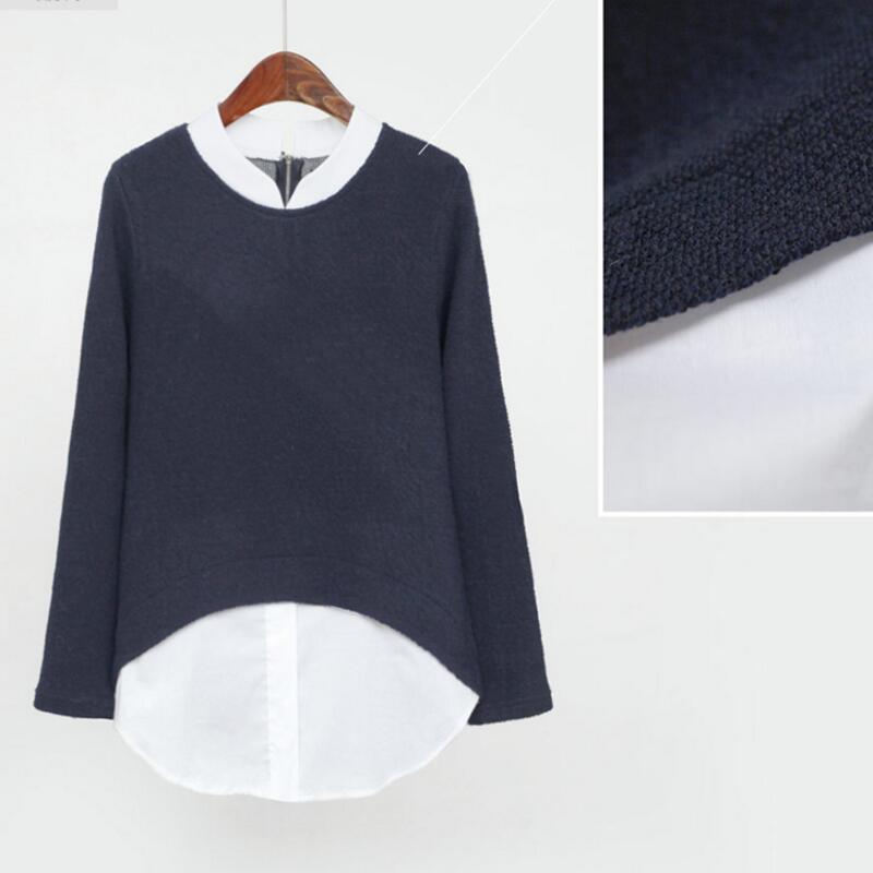 Spring Autumn Kimono Tunics Women's Blouses Ladies Office Long Sleeve Patchwork Body Shirts Plus Size 4XL 5XL Women Tops Blusas 2