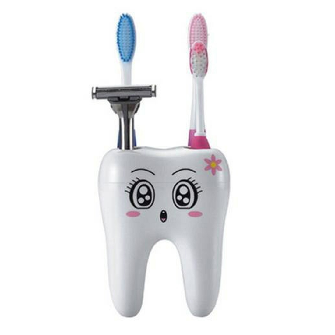 4 Hole Cartoon Toothbrush Stand Tooth Brush Shelf Bracket Container Bathroom Accessories ...