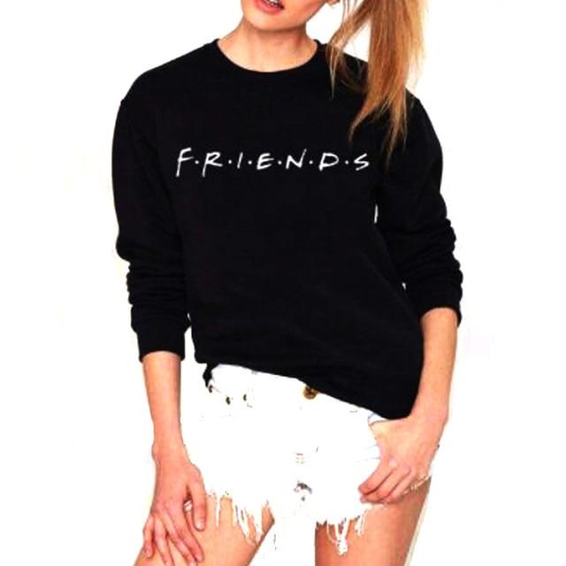 Vsenfo Friends Sweatshirt Women Casual Friends TV Show Sweatshirt 90s  Clothing Tumblr Jumper Tops Harajuku Movie Hoodies Vadim 969cc8741