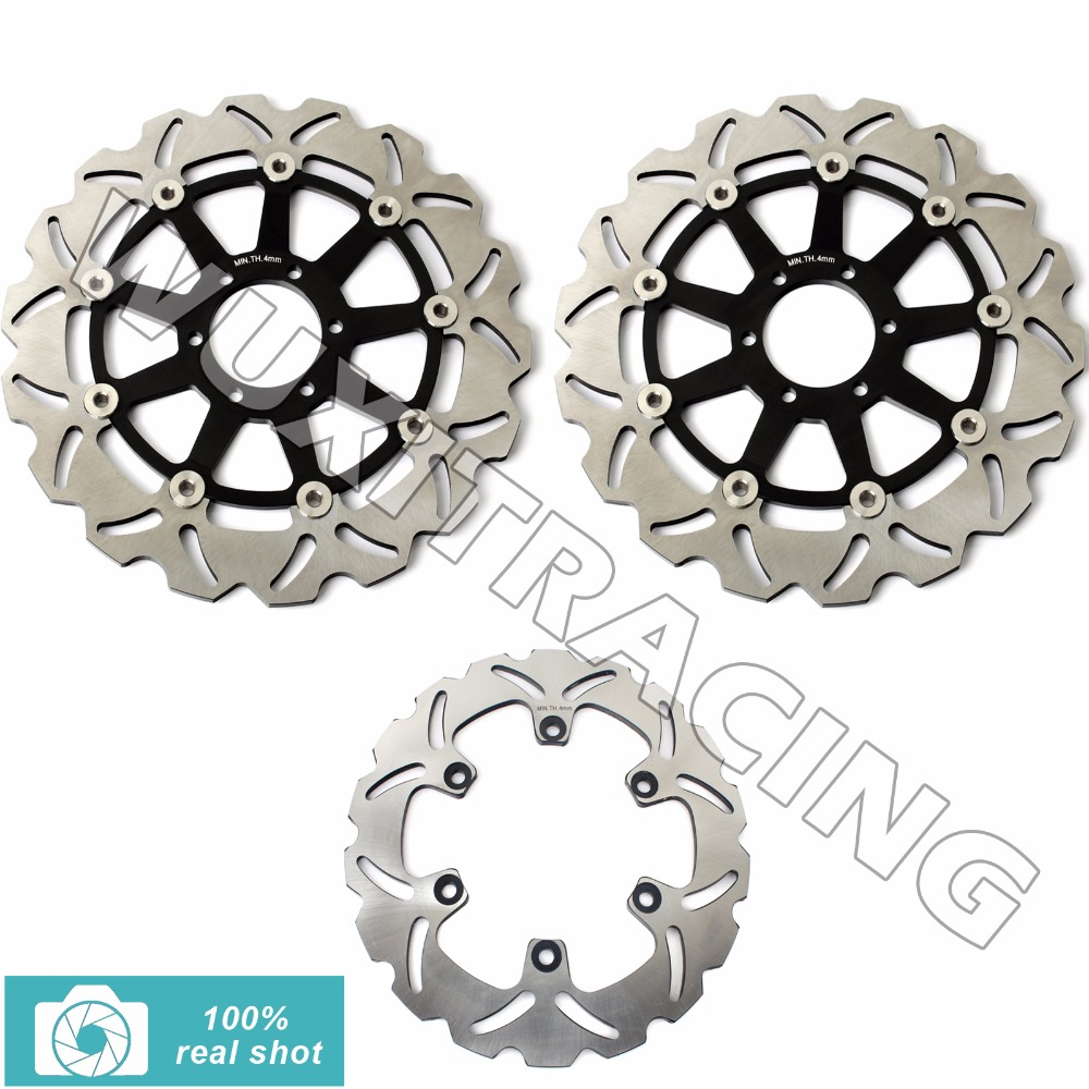 Full Set Front Rear Brake Discs Rotors Rotor for YAMAHA XJR 400 FZR 600 R 89-05 FZS FAZER 600 98-03 TDM 850 91-01 TRX 850 95-00 94 95 96 97 98 99 00 01 02 03 04 05 06 new 300mm front 280mm rear brake discs disks rotor fit for kawasaki gtr 1000 zg1000