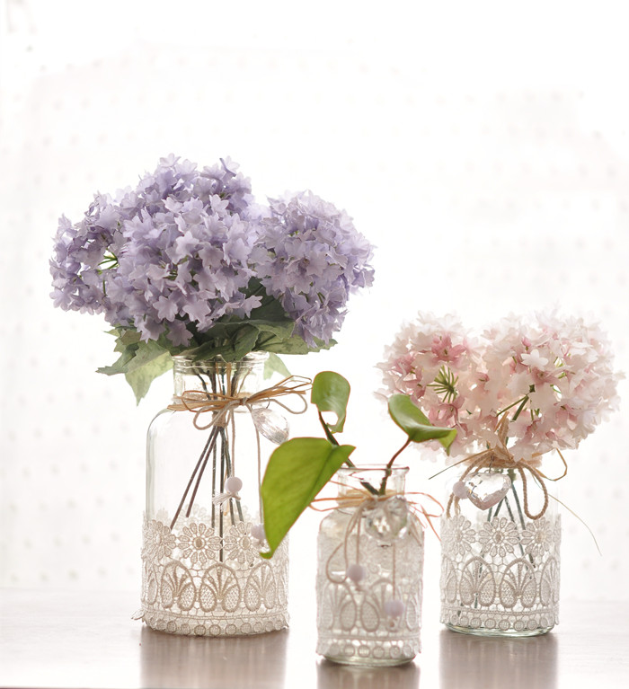Wind Glass Palace Lace Floret Bottle Of Flower Arranging