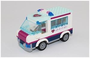 Image 3 - CX 01039 932Pcs Model building kits Compatible with  girls friends 41318 Heart Lake Love Hospital 3D Bricks figure toys