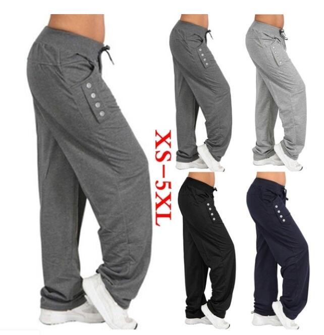 Женские шаровары XXXXL, Свободные повседневные штаны большого размера, однотонные, 2019|Брюки |   | АлиЭкспресс