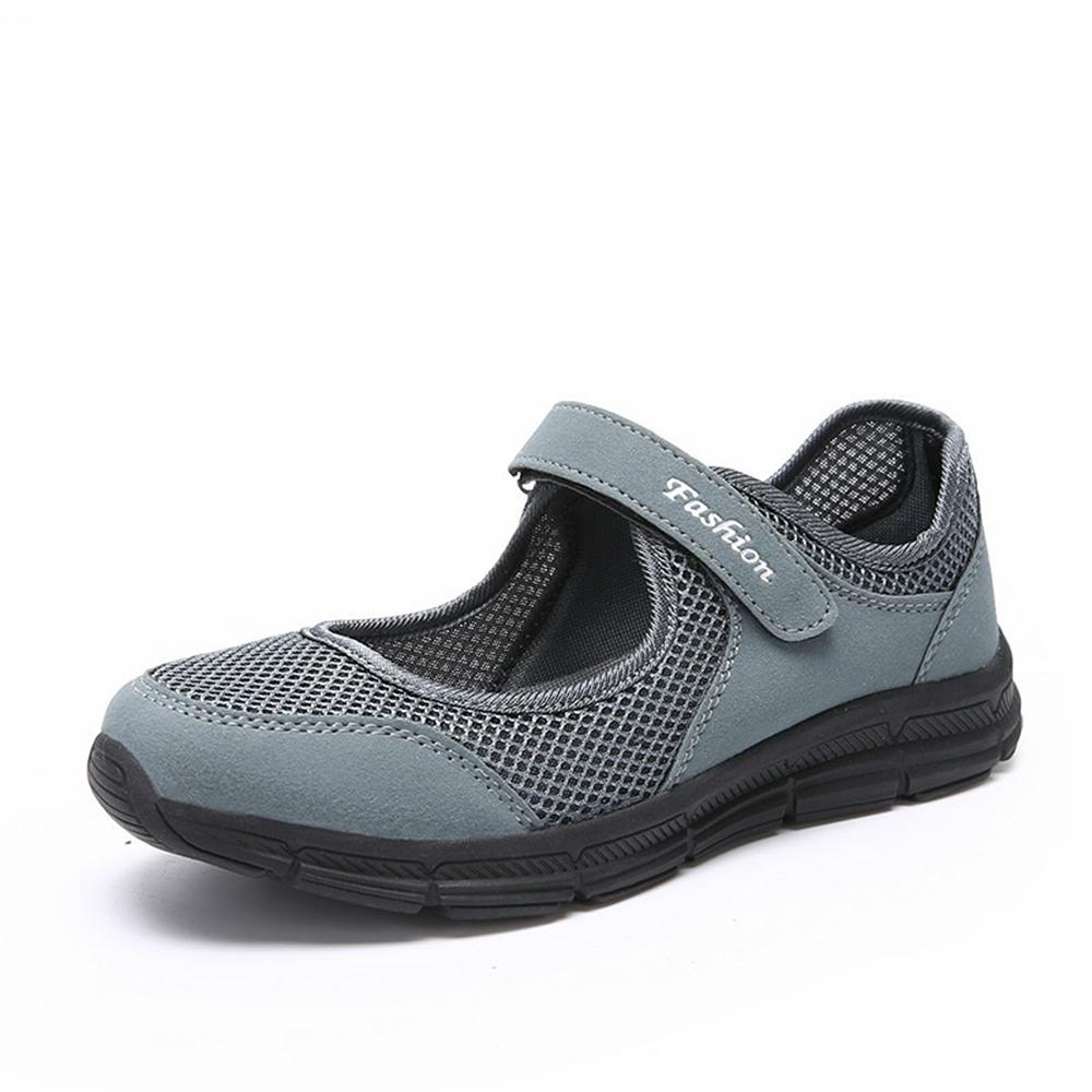2018 new Spring-Fall Women Casual Sport Flats Fashion Shoes Mother Walking Loafers Breathable Air Mesh Sneakers Size 35-42 hosteven women shoes casual sport flats fashion shoes walking spring summer loafers breathable air mesh walking shoes