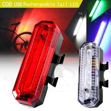 Bicycle Lights COB LED Bike Cycling Rear Tail Light USB Rechargeable 4 Modes Taillight 2019(China)