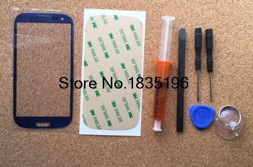 For Samsung Galaxy S3 Front Glass Lens +UV LCD Glue Loca +Light Replacement Repair Kit
