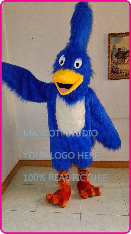 Mascot  Blue Road Runner Mascot Cotume Custom Fancy Costume Anime Mascotte Theme Fancy Dress Carnival Costume