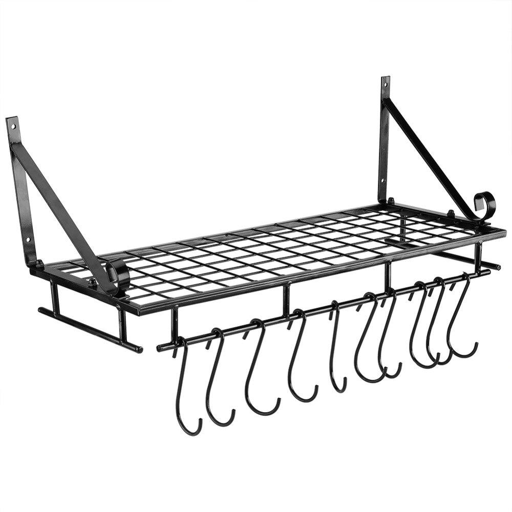 Aliexpress.com : Buy Metal Hanging Pan Pot Rack Wall ...