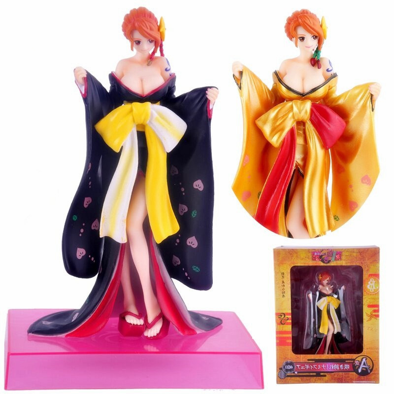 19cm Japanese Anime One Piece NAMI Ichiban Kuji 2016 A Prize Figure Kimono Ver PVC Action Figure Doll Collection Model  KB0620