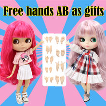 Factory blyth doll white natural tan translucent dark super black 7 skin joiny body 1/6 30cm(China)