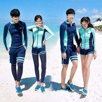 Корейской версии Любители водолазный костюм Новый Нейлон Открытый гидрокостюм Surf с длинным рукавом деления Подводное Плавание Медузы плав