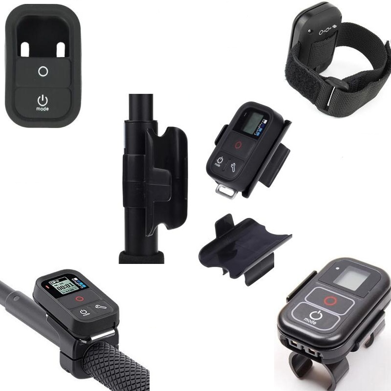 WiFi <font><b>Remote</b></font> <font><b>Control</b></font> Clip /Mount Holder/Wrist Strap /silicone Protect Case /Shell For <font><b>Gopro</b></font> Hero 8 7 6 5 3 Selfie Sticks Monopod image