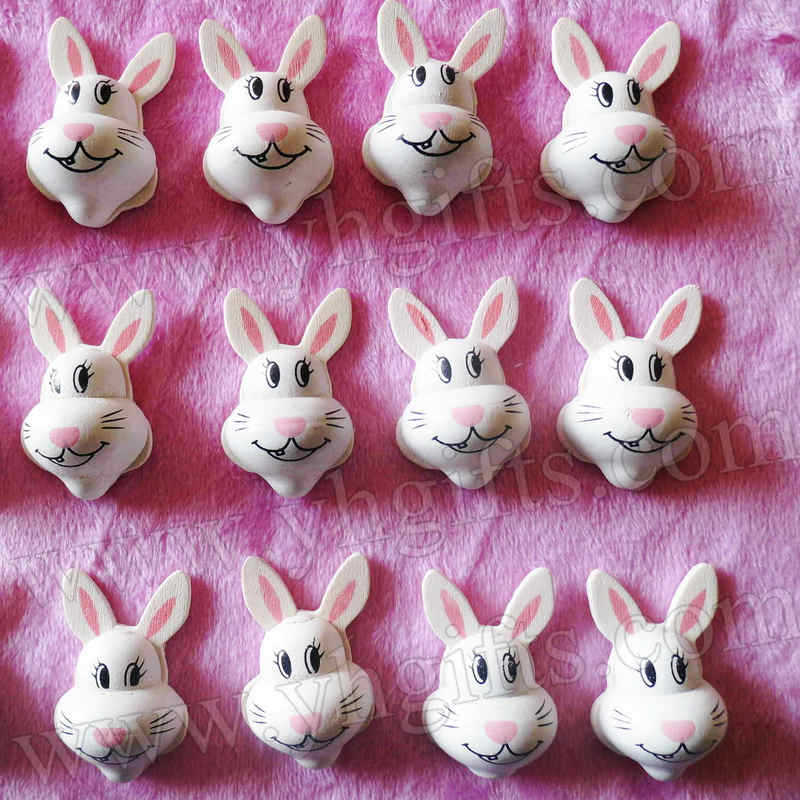 500PCS/LOT.Wood rabbit stickers,3.9 x 2.5cm Kids toys,scrapbooking kit,Early educational DIY.Kindergarten crafts.Classic toy