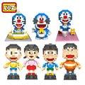 Blocos de Construção LOZ NEW Brinquedos Doraemon Coleção Limitada Brinquedos Nobi Nobita Shizuka Takeshi Suneo Figuras de Ação Anime