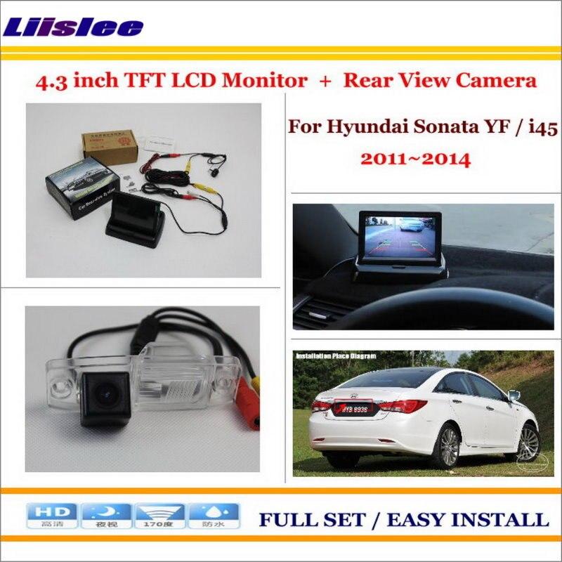 Liislee For Hyundai Sonata YF / i45 2011~2014 Rear View Camera Back Up + 4.3