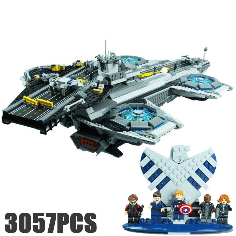Super héros le 76042 bouclier hélicarrier ensemble de construction de modèle de jeu de blocs briques assemblage enfant jouets cadeaux brinquedos