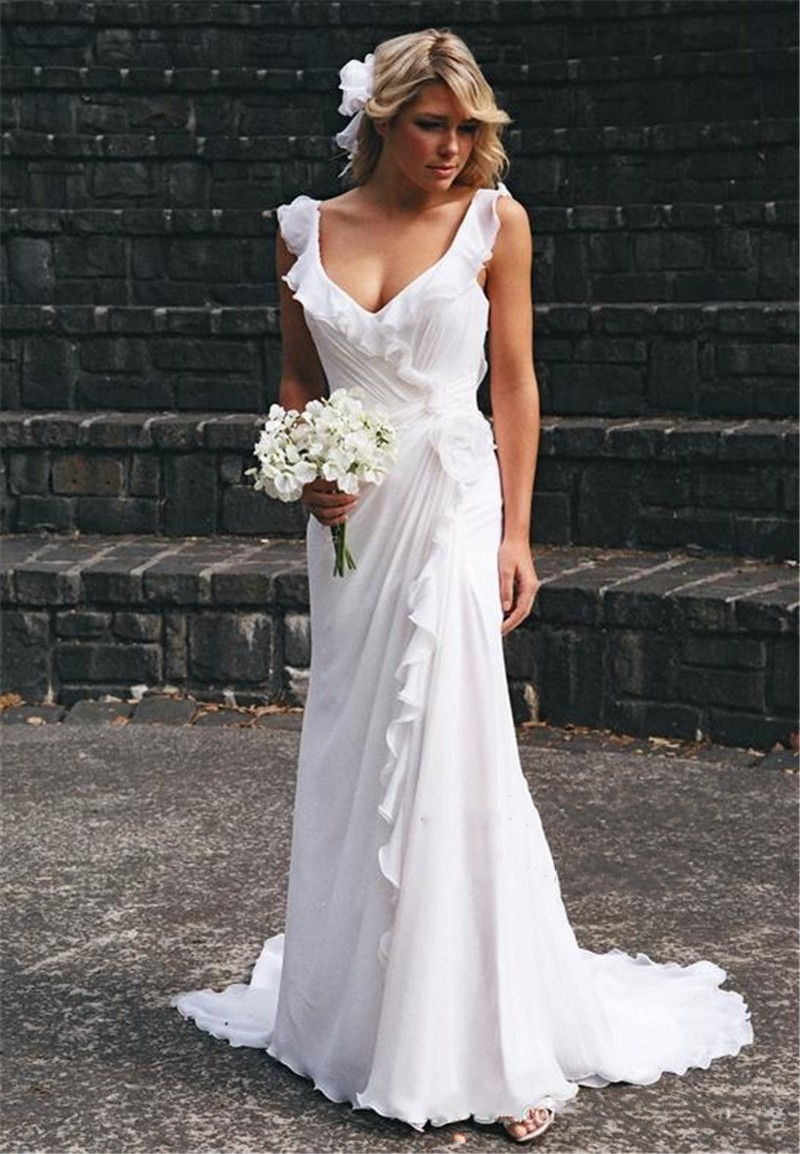 Compare Prices on Beach Wedding Dresses Cheap- Online Shopping/Buy ...