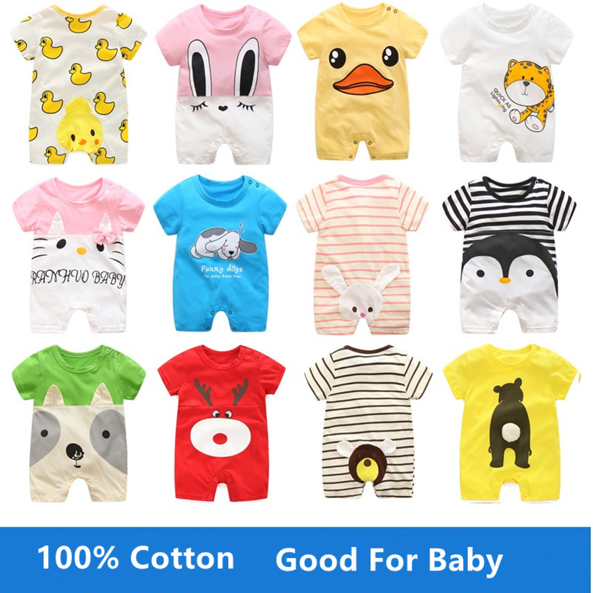 Summer baby Cartoon romper boy girl clothes one-piece jumpsuit brand costume toddler suit infant clothing bebes Bear rabbit KT newborn infant baby romper cute rabbit new born jumpsuit clothing girl boy baby bear clothes toddler romper costumes
