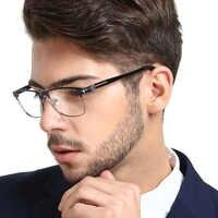 Anti Luce Blu Occhiali Da Vista Telaio Uomini Miopia Occhiali Da Vista Ottica di Prescrizione di Progressive Chiaro Occhiali Occhiali MARE AZZURO OC7204