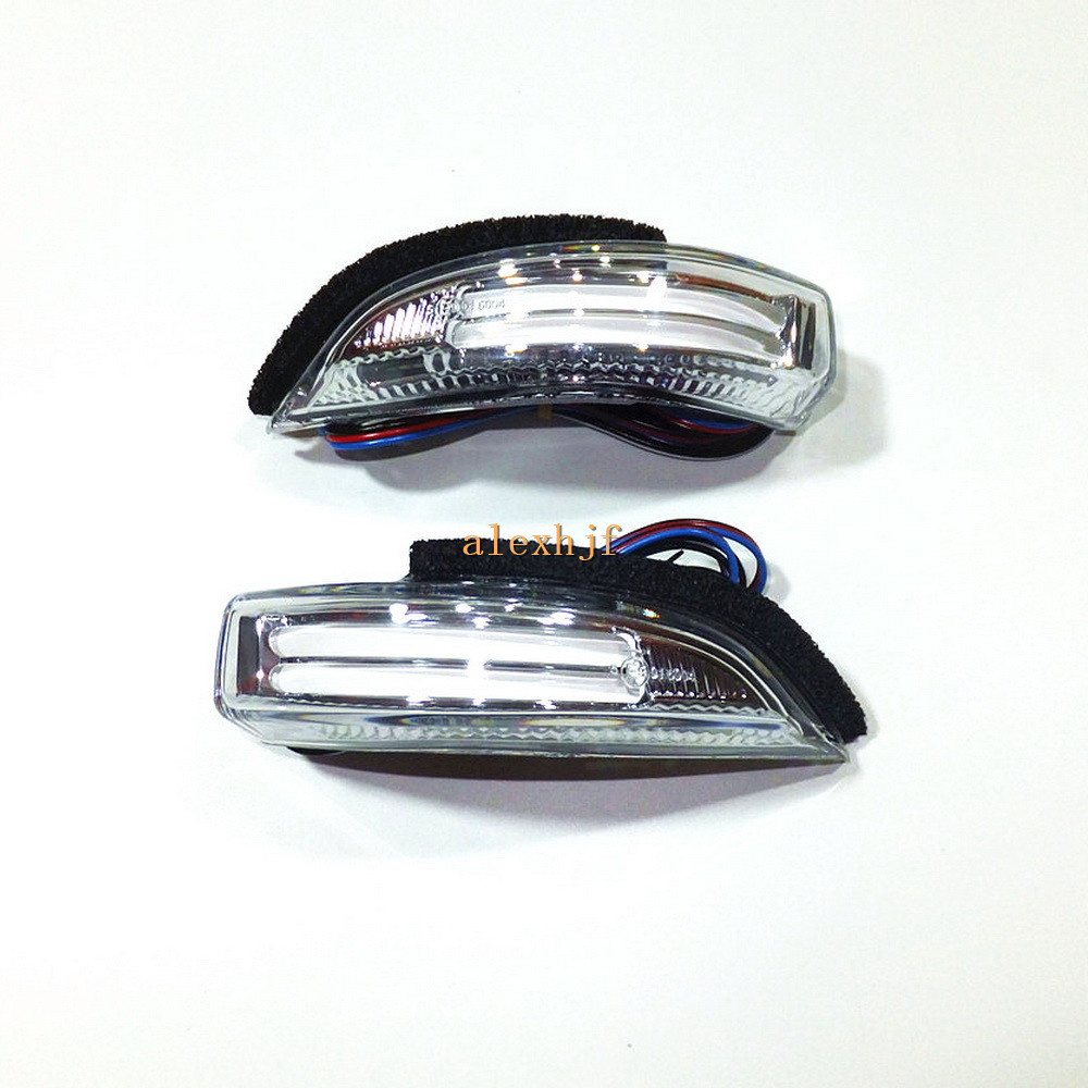 July King LED Rear view Mirror lights Side Turn Signals DRL Ground Lamp Case for Toyota