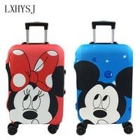 Минни и Микки пары набор шаблон чехол для дорожного чемодана 19-32 дюймов корзина эластичный пылезащитный чехол Аксессуары для путешествий