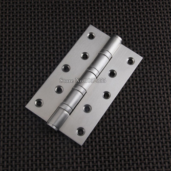 """Top Quality 4PCS/lot 5"""" x 3"""" SUS304 Stainless Steel Extra-thick 3.0mm Brushed Door Hinges Smooth&Quiet Mute Hinges"""
