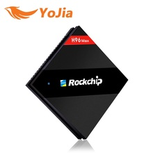 H96 Макс 4 ГБ/32 ГБ Rockchip RK3399 Шесть Core Android TV Box 2.4 Г/5.8 Г двойной WiFi H.265 BT4.0 H.265 4 К * 2 К 1000 М LAN USB Type-c Med