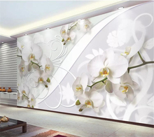 beibehang  Custom wallpaper papel de parede Beautiful European style orchid pattern TV background wall behang tapiz