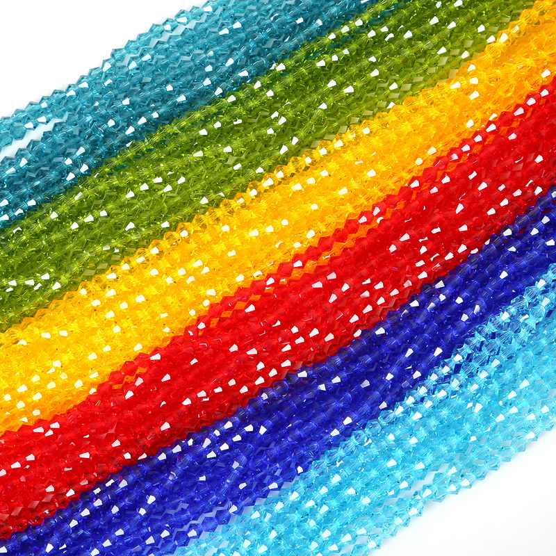 New 4mm Colorful Glass Beads Charms Loose Round Beads Jewelry Beads for DIY Jewelry Hand Making Necklace Bracelet 50-110Pcs