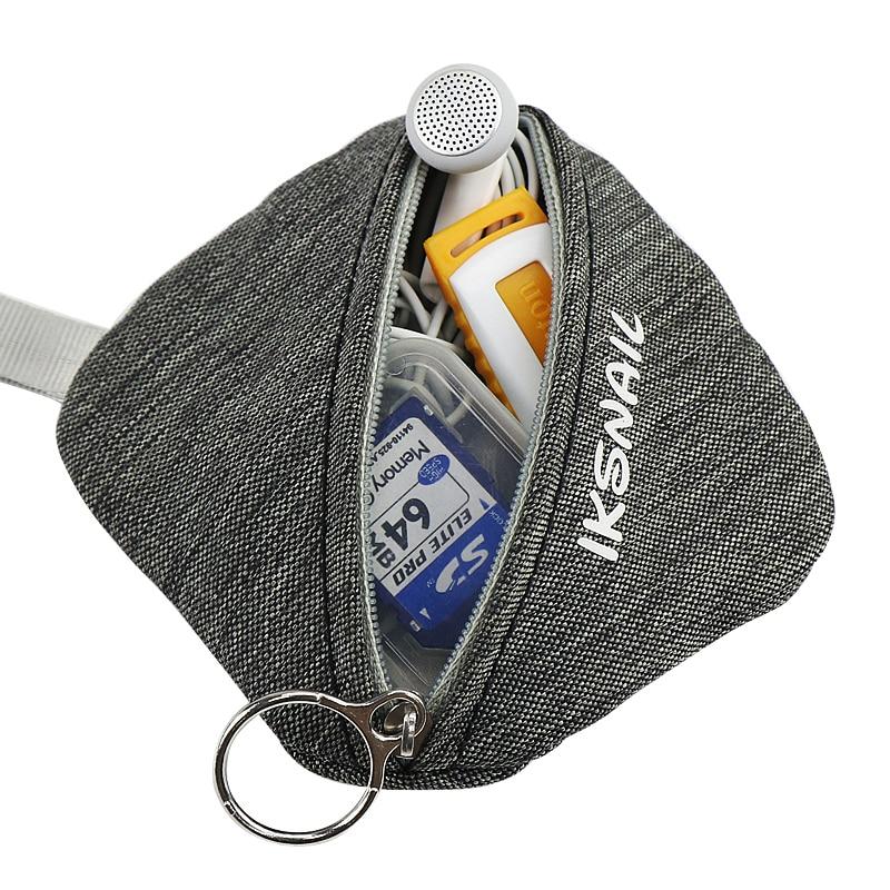Snailhouse Portable Earphone Coin Wallet Bag For Wireless Headphones Key Dollar Money Storage Bag For Earphone Charging Cable in Storage Bags from Home Garden