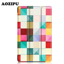 """Vogue Print Good Wake Protecting Stand Funda Cowl PU Leather-based Case for Huawei MediaPad M3 eight.four 2016 BTV-W09/DL09 eight.four"""" Pill"""
