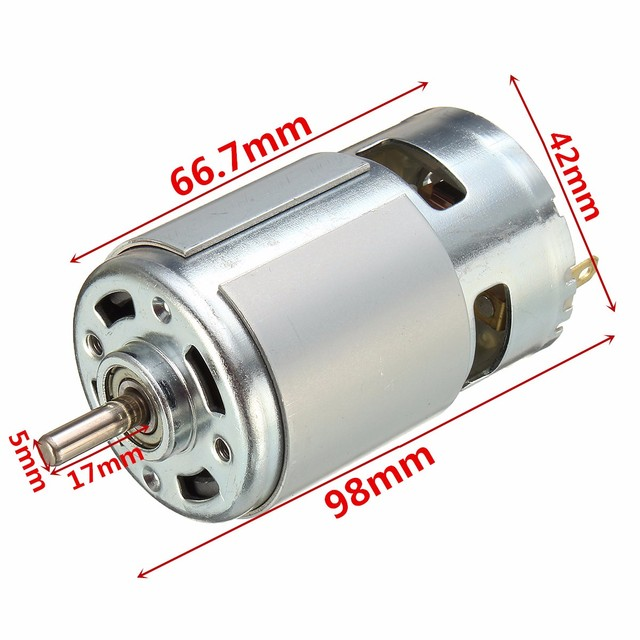775 DC 12V-36V 3500-9000RPM Motor Ball Bearing Large Torque High Power Low Noise DC Motor Accessories Electrical Supply
