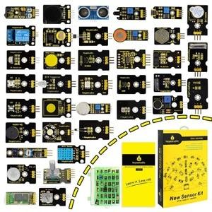 Image 1 - 새로운 포장! arduino 프로그래밍 교육 (37pcs 센서) + 37 프로젝트 + pdf + 비디오 용 keyestudio37 in 1 센서 키트