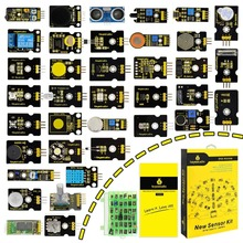 אריזה חדשה! keyestudio37 ב 1 חיישן ערכת עבור Arduino תכנות חינוך (37pcs חיישנים) + 37 פרויקטים + PDF + וידאו