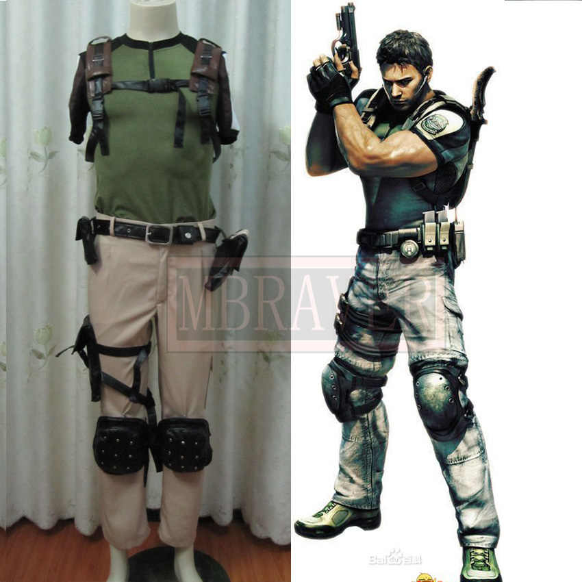 Chris Redfield Cosplay Cos Cosplay Costume Halloween Uniform