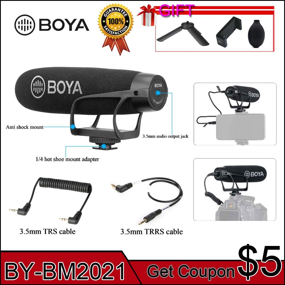 BOYA BY-BM2021 Super Cardioid Shotgun Video Microphone For DSLR Camera Canon Nikon Sony Panasonic Camcorder Smartphone